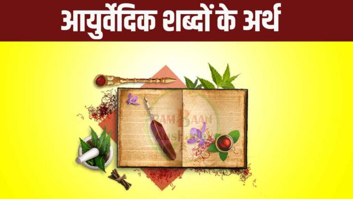 Meaning of Ayurvedic words